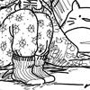 Mon tout premier dessin de 2015 :D Pour le concours des vêtements chauds.   Comment ça, je me suis inspirée de mon propre pyjama ???